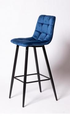 Барный стул UDC 8078 синий вельвет