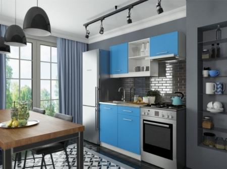 Кухонный гарнитур София мини 2 синий