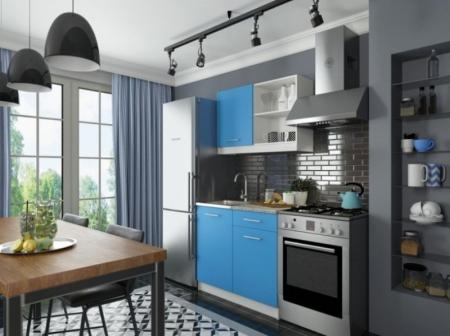 Кухонный гарнитур София мини 1 синий