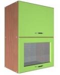 Шкаф В-600 2 газ с 1 стеклом Размер 600x300x720