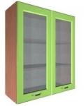 Шкаф В-600 2 двери с 2 стеклами Размер 600x300x720