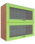 Шкаф В-800 2 газ с 2 стеклами Размер 800x300x720