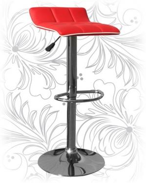 Барный стул 5014 красный с белым