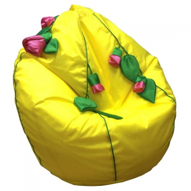 Кресло-мешок Розы желтый
