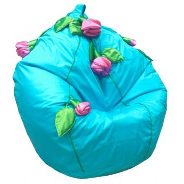 Кресло-мешок Розы бирюзовый