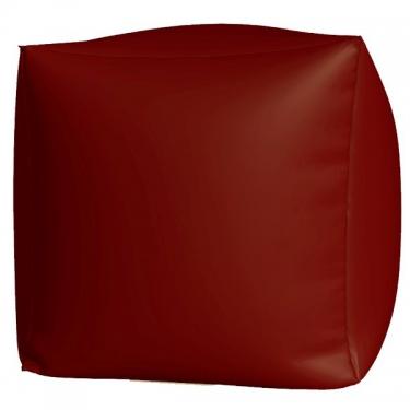 Пуфик Куб макси бордовый