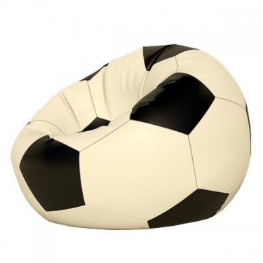 Кресло-мешок Мяч мини белый/черн