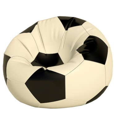 Кресло-мешок Мяч макси белый с черным