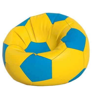 Кресло-мешок Мяч макси желтый с синим