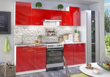 Кухня Фьюжн глянец красный глянец