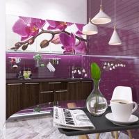 Кухня Орхидея принт фотопечать 1,8 м