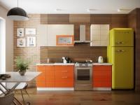 Кухня Соло 1,8 м оранж/ваниль