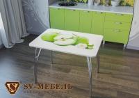 Кухня Яблоки с фотопечатью без глянца