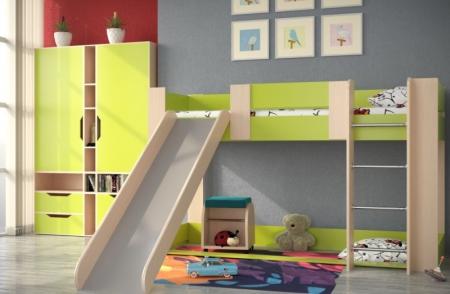 Кровать №6 с горкой и игровой зоной