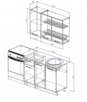 Кухонный гарнитур Антрацит 1200 мм