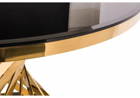 Стол Твистер gold / black